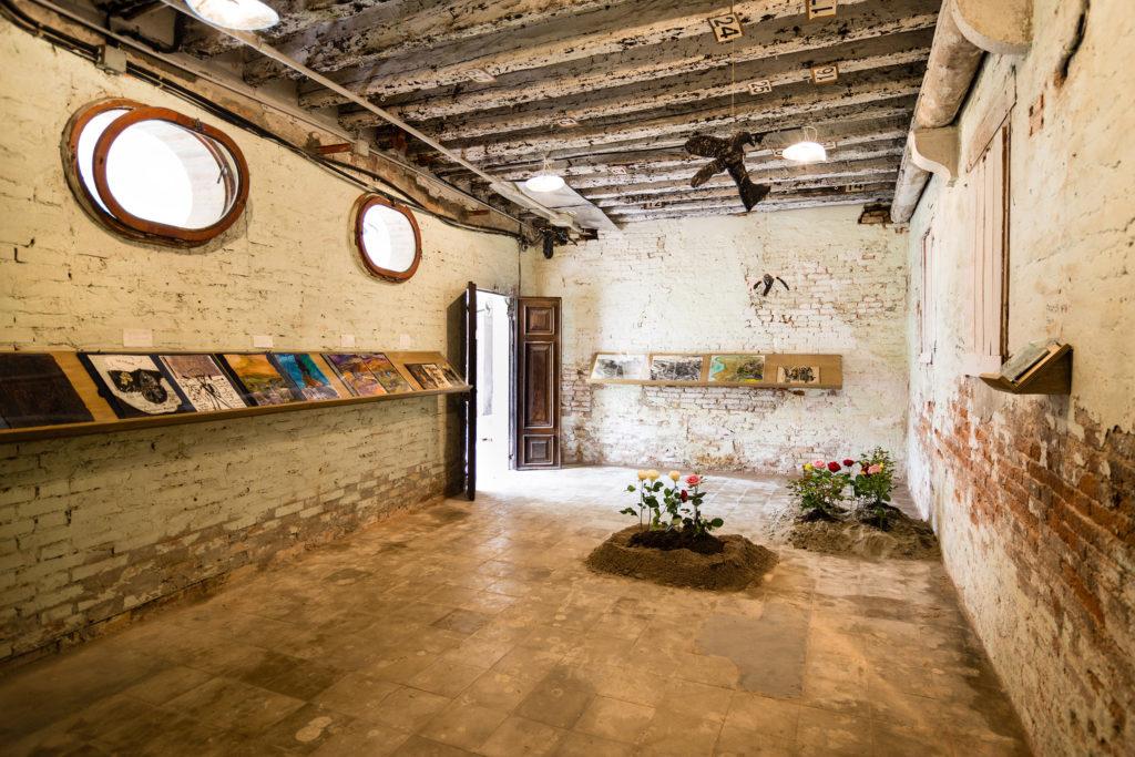 Anna Boghiguian, Ani, 2015. Installation view, Mekhitarist Monastery of San Lazzaro degli Armeni, Venice at ARMENITY/HAYOUTIOUN, 2015.